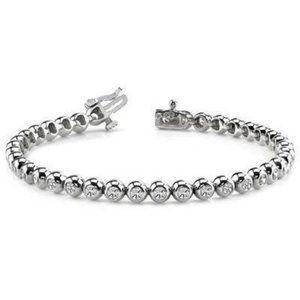 5.40 Carats Round Cut Diamonds Tennis Bracelet Wom